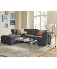 Harper Fabric 3-Piece Modular Sectional Sofa | macys.com