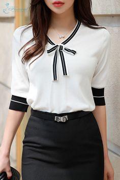 Korean Women s Fashion Shopping Mall Styleonme. Blouse Styles, Blouse Designs, Haute Couture Style, Moda Chic, Work Attire, Women's Fashion Dresses, Fashion Clothes, Maxi Dresses, Blouses For Women