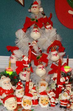 Vintage Santa Claus Christmas Tree