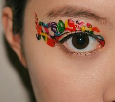 ...to find these Eye makeup tatoos | Pair Eye Temporary Tattoo Makeup Eyeshadow Multicolor Multicultural ...