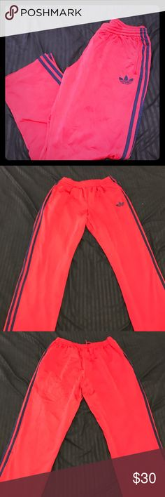 Men's Adidas athletic pants Worn but in great condition. 100% polyester Adidas Pants Sweatpants & Joggers