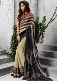 Party Wear Georgette Multi Colour Printed Saree