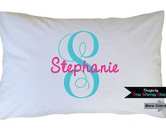 printed pillow cases. Monogram Pillowcase Girls Personalized By HeatherRogersDesigns Printed Pillow Cases