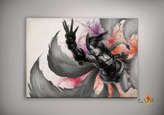 League of Legends LoL Ahri   Watercolor illustrations Print Wall Art Poster Giclee Wall Decor Decor Wall Hanging Modern Geek Multi Size n559 on Etsy, 33,91zł