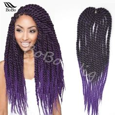 """Hot sale 22"""" expression synthetic crochet braid hair havana mambo senegalese twist hair ombre jumbo crochet twist braiding hair(China (Mainland))"""