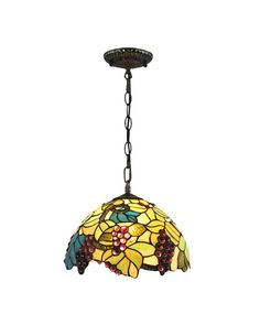 Tiffany Grape Harvest Stained Glass Indoor Pendant Lights