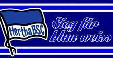 Berlin Fahne Pur 12  Hertha Aufkleber BSC Sticker
