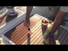 How To: Apply Teak Sealer to your yacht or sailboat By: Ian Van Tuyl Sailboat Interior, Yacht Interior, Sailboat Restoration, Used Sailboats, Boat Cleaning, Sailboat Living, Buy A Boat, Teak Oil, Futuristic Cars