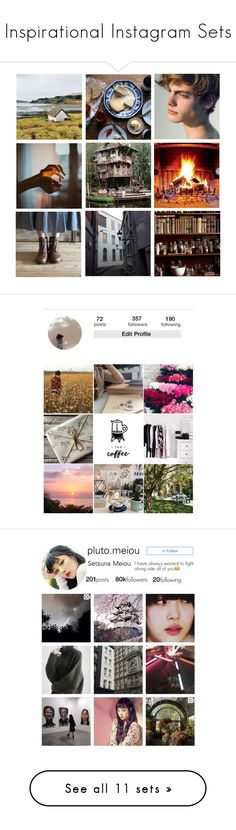 """Inspirational Instagram Sets"" by anna-fozo ❤ liked on Polyvore featuring instagram, instagramsets, art, cool, template, artset, Dolce&Gabbana, American Eagle Outfitters and GET LOST"