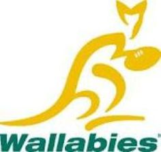 Sports: This is the logo for the Wallabies the Australian rugby team. The Wallabies play against other international teams. Rugby is a big sport in Australia. It is originally a British sport, but was brought to Australia when it was being settled. Rugby Cup, Australia Rugby, Rugby Union Teams, Rugby Championship, British And Irish Lions, International Rugby, All Blacks, Rugby World Cup, T Shirts