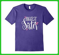 Mens Biggest Sister Shirt Family Tribe Matching Daughter Kids 3XL Purple - Relatives and family shirts (*Amazon Partner-Link)