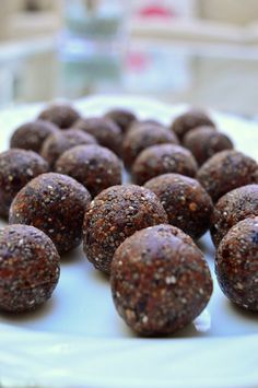 These Thermomix Chocolate Chia Bliss Balls are so rich and gooey and filled with so much goodness. They're the perfect energy snack to keep in the fridge