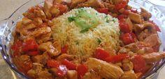 Csípős csirke Ratatouille, Meat Recipes, Food Pictures, Guacamole, Poultry, Grains, Rice, Mexican, Meals