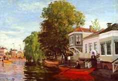 The painting The Zaan at Zaandam by Monet