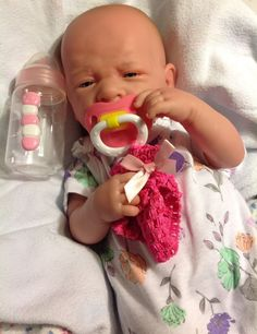 BABY GIRL! REBORN REALISTIC BERENGUER DOLL W TWO PACIFIERS TWO BOTTLES EXTRAS ++