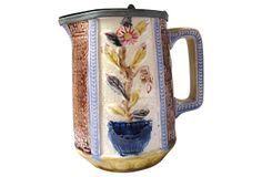Antique Majolica Pewter Lid Jug on OneKingsLane.com