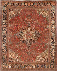 Antique Persian Sarouk Farahan Rug 44130 Nazmiyal - By Nazmiyal