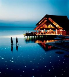 The stunning Fuddan Fushi Grill at the Anantara Resort in the Maldive islands.