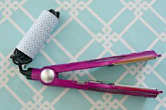 tip: wrap cords for small appliances and tuck inside a toilet paper tube for tangle-free storage  {and some pretty scrapbook paper to dress it up never hurts, either}