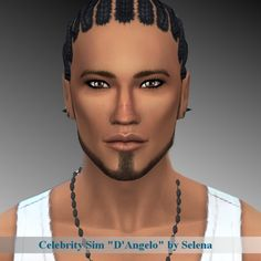 D'Angelo by Selena at Sims 4 Celebrities via Sims 4 Updates