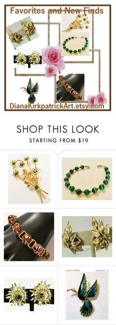 """""""Favorites and New Finds"""" by diana-32 on Polyvore featuring CORO and vintage"""