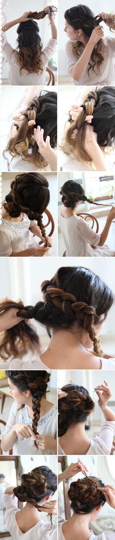 She Lets Her Hair Down: Tutorial :: Braided Up-do.  Can't wait til my hair is long enough to do this!