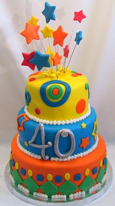 bithday cake | birthday cake is three tiers of various flavors – 1st white cake ...