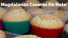 Magdalenas Caseras de Nata / RECETA FÁCIL / Josean MG   Muffin, Breakfast, Food, Homemade Recipe, Custard, Pound Cake, Easy Recipes, Home Made Cupcakes, Homemade Desserts