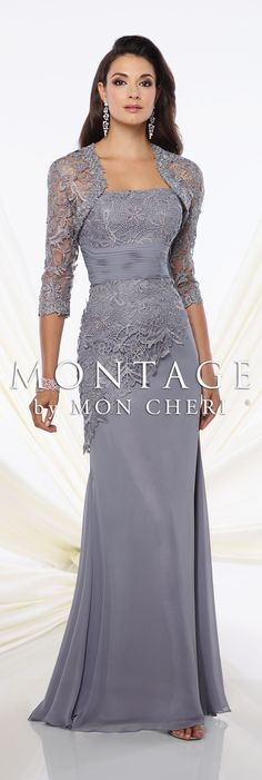 Montage by Mon Cheri Spring 2016 - Style No. 116944 #eveninggowns Monica Earrings www.davidtuteraembellish.com