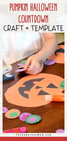 Halloween will be here sooner than you think! Prepare for the big day with a spooky reminder! Check out the blog for more details on this Pumpkin Halloween Countdown Craft. It comes with a free template too! This DIY craft is perfect, especially when the spooky season is slowly creeping in. Because who isn't waiting for Halloween right? This can also serve as an amazing Halloween decoration piece and a unique Halloween craft! #toddlercrafts #Halloweenactivities #printablecountdown Halloween Themed Food, Halloween Crafts For Kids, Halloween Activities, Easy Crafts For Kids, Halloween Projects, Easy Diy Crafts, Holidays Halloween, Toddler Crafts, Halloween Themes