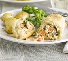Salmon and Watercress parcels