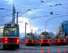 Streetcars at sunup...
