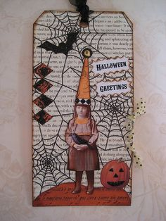 Altered Halloween Tag