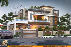 House Front Design, Modern House Design, Design Studio, 3d Design, House Architecture Styles, Modern House Facades, Building Elevation, Sweet Home, Facade House