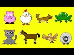 Learn how to write and pronounce the name of the animals in Spanish. Video/song for kids K-5.