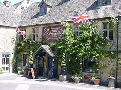 Antique shops abound in many of the Cotswold towns and villages, such as this one in Stow on the Wold