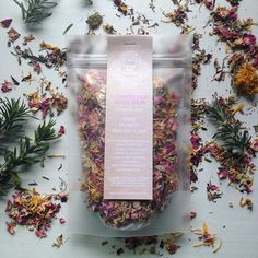   Flowers For Your Hair - Botanical Rinse   #eco #teapackaging #apothecary #herbal #herbspiration Matte Frost Stand Up Pouches curated by Copious Bags™
