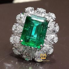 Eid Special  An Enormous 7.86 Carat Emerald & Diamond Ring  #ring… …