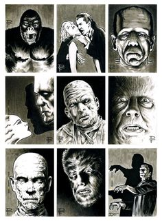 Classic monsters from movies Frankenstein, King Kong. Classic Monster Movies, Classic Monsters, Mary Shelley, Frankenstein, Monster Squad, Monster Mash, Monster Party, Hollywood Monsters, Creepy Monster