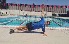 Becoming a faster swimmer isn't just about adding more laps in the pool. Training outside of the water is arguably just as important, and these moves can help you improve.