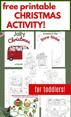 This free printable Christmas activity from High Chair Chronicles is the perfect way to keep your toddler entertained during the holidays! All you have to do is print this out for a festive craft to help occupy their time during Christmas. They will love coloring, drawing, and creating this fun worksheet. Get this free printable for your Toddler this holiday! #holidays #christmas #free #printables #kidsactivities #toddlers
