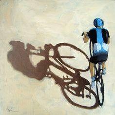Single+Focus+-+Tour+de+France+bicycle+oil+painting,+painting+by+artist+Linda+Apple