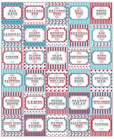 Carnival Party Signs Circus Party Supplies Carnival by MetroEvents