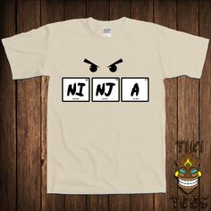 funny ninja t shirt chemistry science tshirt tee shirt joke periodic table of elements fun