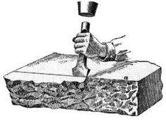 Elements of stone masonry Dry Stone, Brick And Stone, Stone Work, Stone Walls, Building Stone, Natural Building, Painel Wall, Stone Carving Tools, Stone Masonry