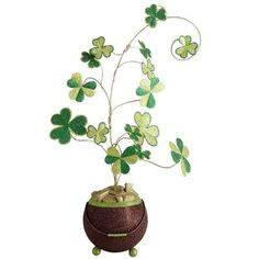 Essential for the girl born on St. Patrick's Day...  Glitter Shamrock Tree