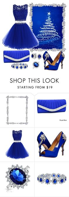 """Blue Christmas Party!"" by itsablingthing ❤ liked on Polyvore featuring Olivia Riegel, Dasein, Badgley Mischka and Bling Jewelry"