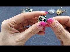 Bead Weaving, Crystal Earrings, Beaded Bead, Make It Yourself, Beads, Crystals, Stuff To Buy, Crafts, Craft Ideas