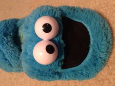 COOKIE MONSTER SLIPPERS!