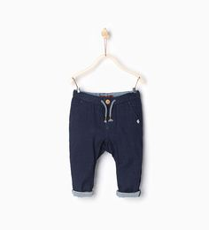 Trousers with striped turn up hem-TROUSERS-BABY BOY | 3 months-3 years-KIDS | ZARA United States